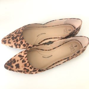 NWOT Time and Tru Leopard Flats